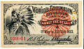 Ticket with portrait of Native American (3589463659).jpg