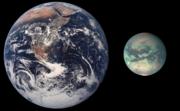 Titan, comparé à la Terre.