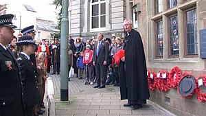English: Tiverton : Angel Hill & Remembrance S...