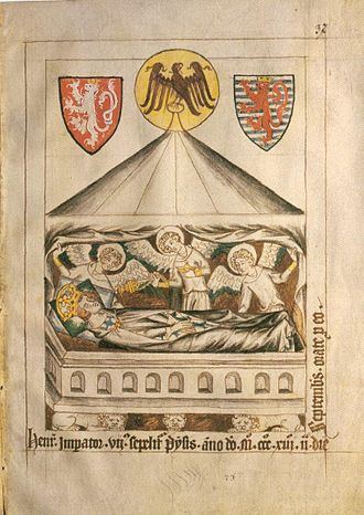 Henry VII, Holy Roman Emperor - Tomb of Henry VII,  Codex Balduini Trevirensis (ca 1340).