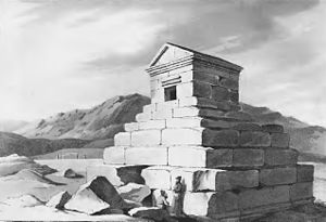 Robert Ker Porter - Drawing of the tomb of Cyrus, 1818