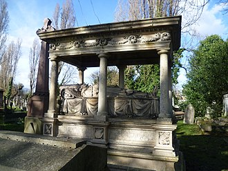 James Pulham and Son - Tomb of William Mulready in Kensal Green Cemetery