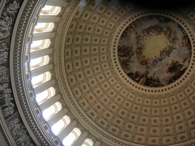 File:Top middle interior view of US Capitol dome 1.jpg