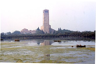 Venetian Lagoon - The island of Torcello seen from the Lagoon at low tide