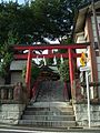 Torii (鳥居) at Wakabayashi Inari Shrine (若林稲荷神社) - panoramio.jpg