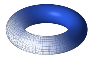 They Saved Lisa's Brain - One of Hawking's lines in the episode references the theory that the universe is shaped like a toroid. Shown here is a torus, a type of toroid