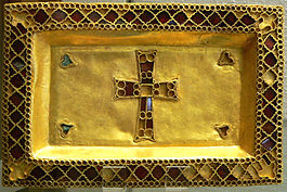 A paten from the Treasure of Gourdon.