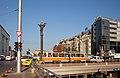 Tram in Sofia near Sofia statue 2012 PD 029.jpg