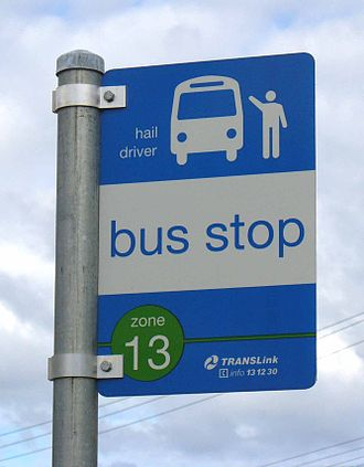 TransLink (South East Queensland) - Flag-type bus stop