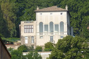 Villa Lante al Gianicolo - The loggia side from Trastevere below