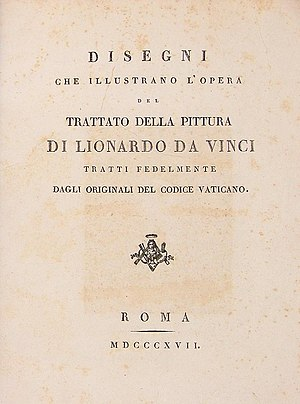 Codex Urbinas - A Treatise on Painting (Trattato della pittura), printed edition Roma, 1817.