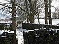 Trees and walled footpath near Raikes House Farm - geograph.org.uk - 792145.jpg