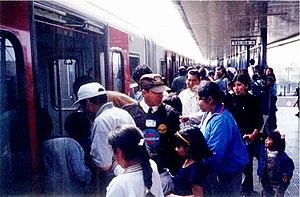 Lima Metro - Lima Metro at its beginnings.
