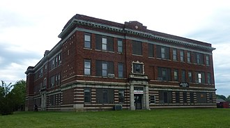 National Register of Historic Places listings in Grundy County, Missouri - Image: Trenton hs 1
