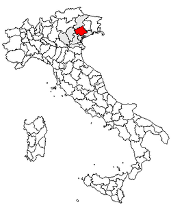 Location of Province of Treviso