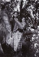 Portrait of a Javanese Woman with Child in a Sling