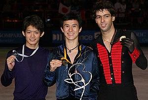 Alban Préaubert - Préaubert after winning the bronze medal at the 2008 Trophée Eric Bompard