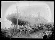 Troupes portugaises débarquant à Brest (1917) 01