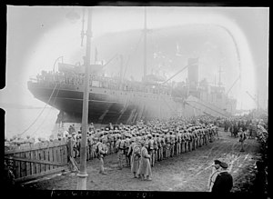 Portugal during World War I - Portuguese troops disembarking at Brest.