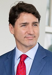 Trudeau visit White House for USMCA (cropped) (rotated).jpg