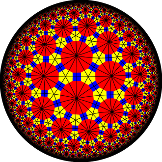 Truncated triheptagonal tiling - Image: Truncated triheptagonal tiling with mirrors