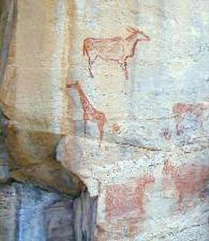 Tsodilo - Rock art at Tsodilo
