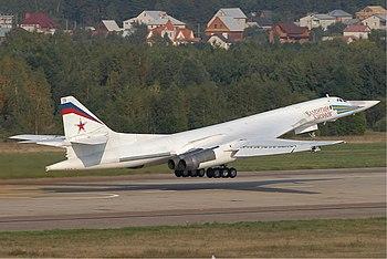 English: A Tupolev Tu-160 of the Russian Air F...