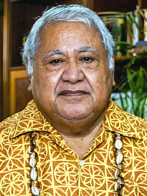 Prime Minister of Samoa - Image: Tuilaepa Aiono Sailele Malielegaoi 2014 (cropped)