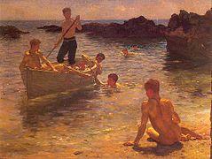 Tuke, Henry Scott (1858–1929) - 1921 - Morning splendour.jpg