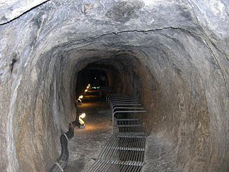 Tunnel of Eupalinos - Inside the aqueduct