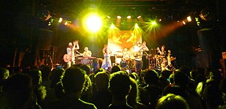Tunng - Tunng in action at the Melkweg, Amsterdam, in 2010
