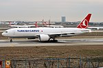 Turkish Cargo, TC-LJM, Boeing 777-FF2 (40671589113).jpg