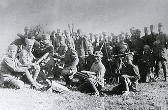 Battle of Dumlupınar - Turkish artillerymen before the Great Smyrna Offensive  (Büyük Taarruz), August 1922.