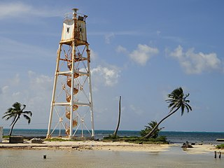 Mauger Caye Light lighthouse in Belize