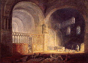 Ewenny Priory - Transept of Ewenny Priory by J. M. W. Turner