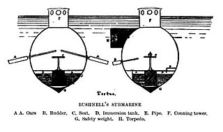 <i>Turtle</i> (submersible) first combat submersible; United States, 1775