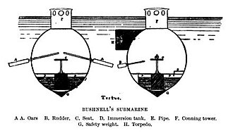 Turtle (submersible) - A diagram showing the front and rear of Turtle