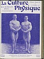 Two male body builders, Lindinger & Maurice Deriaz, c. 1906 Wellcome L0039136.jpg