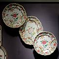 Two plates and a platter, Slovakia, Holic, 1755-1765, ceramic - Museum of Anthropology, University of British Columbia - DSC08825.jpg