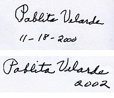 Two versions of Pablita Velarde's signature.jpg
