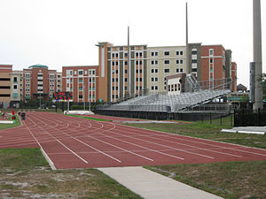 UCF Knights women's soccer - Image: UCF Soccer and Track Stadium