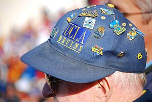 Lapel pin - UCLA lapel pins on a baseball cap