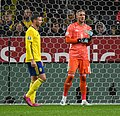 UEFA EURO qualifiers Sweden vs Spain 20191015 Robin Olsen and MArcus Berg.jpg