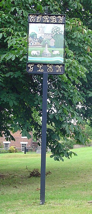 Corby Glen - Village sign in Corby Glen