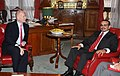 UK Foreign Secretary William Hague meeting the Crown Prince of Bahrain in London, 30 November 2010. (5220364321).jpg
