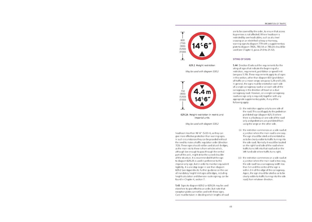 PageUK Traffic Signs Manual Chapter Regulatory Signs - Out of order sign pdf