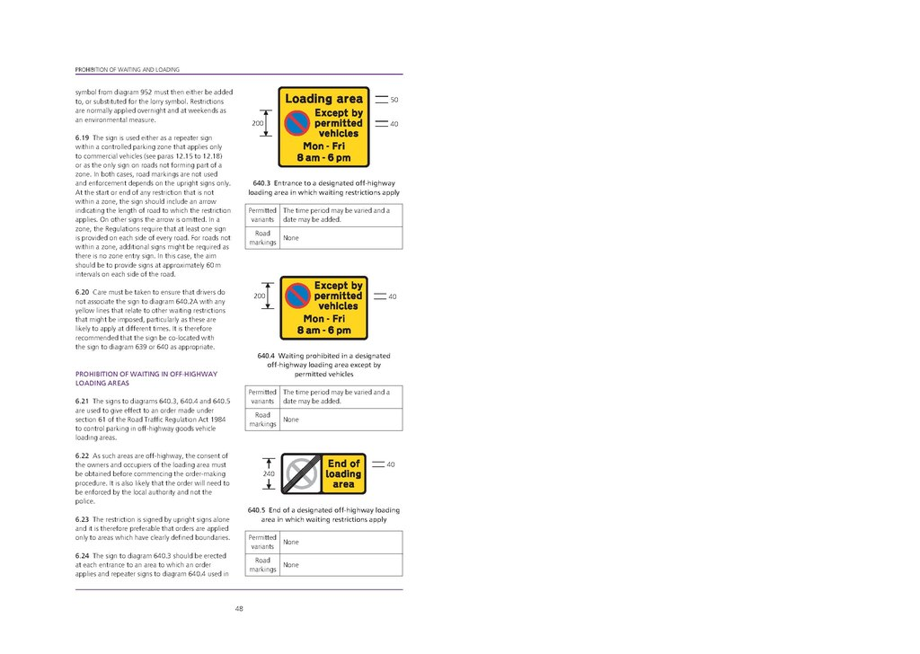 Page UK Traffic Signs Manual  Chapter 3 Regulatory Signs 2008  Second Impression 2008 pdf50