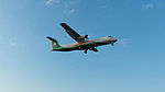 UNI Air ATR 72-600 B-17006 on Final Approach at Taipei Songshan Airport 20150102b.jpg
