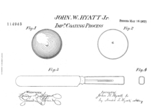 US114945 - Patents for Injection Moulding by John Wesley Hyatt (Diagram 1)