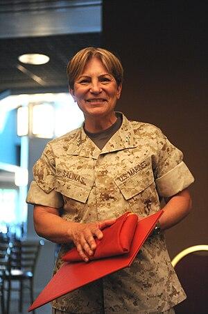 Angela Salinas - Salinas at Quantico in May 2010